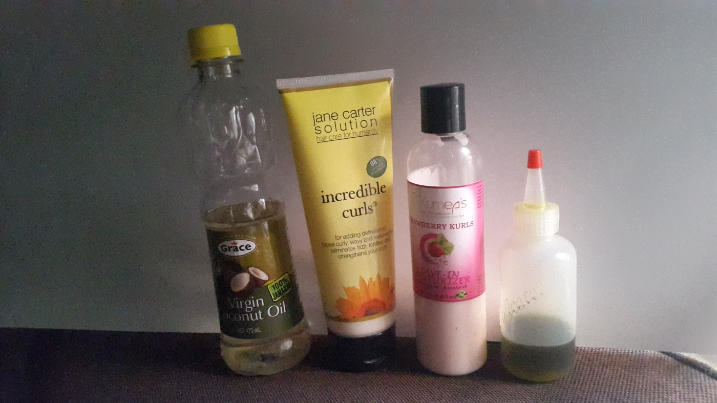 Wash day products for naturally curly hair
